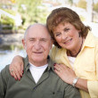 Happy Senior Couple Relaxing in The Park — Stock Photo #8963274
