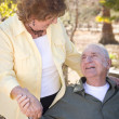 Happy Senior Couple Relaxing in The Park — Stock Photo