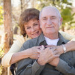 Happy Senior Couple Relaxing in The Park — Stock fotografie