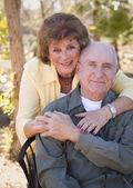Senior Woman with Man Wearing Oxygen Tubes — Stock Photo