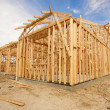 New Construction Home Framing Abstract — Stock Photo #9153870