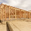 Stock Photo: New Construction Home Framing Abstract