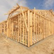 New Construction Home Framing Abstract — Stock Photo #9153961