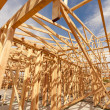 New Construction Home Framing Abstract — Stock Photo #9153992