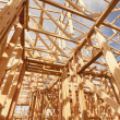 New Construction Home Framing Abstract — Stock Photo #9154059