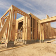 New Construction Home Framing Abstract - Zdjcie stockowe