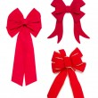Royalty-Free Stock Photo: Set of Red Bows and Ribbons