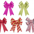 Set of Five Multicolored Glitter Bows and Ribbons — Stock Photo #9154113