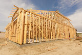 New Construction Home Framing Abstract — Stock Photo