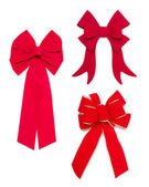 Set of Red Bows and Ribbons — Stock Photo