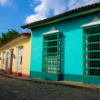 Narrow street and colorful houses in Trinidad,Cuba — Stock Photo