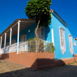 Colorful house in the colonial town of Trinidad in Cuba — Stock Photo #10254242