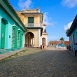 Stock Photo: Colorful traditional houses in Trinidad, Cuba