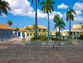 Main square in the colonial Trinidad, Cuba — Stock Photo