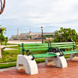 Park in Havanwith iconic El Morro castle in background — Stock Photo #8481274