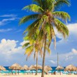 The worlwide famous beach of Varadero in Cuba - Stock Photo
