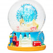 Stock Photo: Snow dome with symbols of the city of London