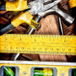 Stock Photo: Set of manual tools