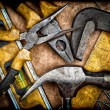 Stock Photo: Old set of tools