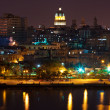 Stock Photo: Old Havana illuminated at night