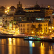 Old Havana illuminated at night — 图库照片