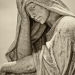 Statue of a very sad depressed young woman — Stock Photo