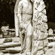 Vintage image of beautiful angel on cemetery — Stock Photo #8482334