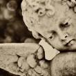 Beautiful old statue of a little infant angel — Foto de Stock
