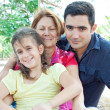 Stock Photo: Latin family in park