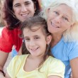 Three generations of hispanic women — Stock Photo