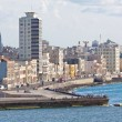 The skyline of Havana seen from the ocean — Stock Photo