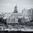 Stock Photo: Black and white image of Old havana