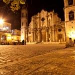 The Cathedral of Havana illuminated at night — Stock Photo #8482612