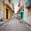 Foto Stock: Grunge decaying buildings in Old Havana