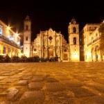 The Cathedral of Havana illuminated at night — Stock Photo #8482628