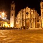 The Cathedral of Havana illuminated at night — Stock Photo #8482633