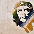 Foto Stock: Che Guevarpainting on wall in Havana