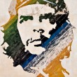 Che Guevara painting on a wall in Havana — Stock Photo #8482889