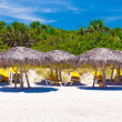 The beautiful beach of Varadero in Cuba - Stock Photo