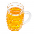Glass of beer isolated on white — Stock Photo