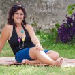 Stok fotoğraf: Beautiful latin woman in a park