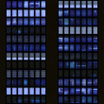Seamless pattern resembling skyscraper windows illuminated at night — Stock Photo #8483499
