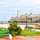 The iconic castle of El Morro, a symbol of Havana — Stock Photo