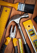 Set of manual tools — Stock Photo