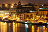 Old Havana illuminated at night — Стоковое фото
