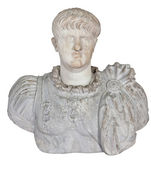 Ancient statue of the roman emperor Nero isolated on white — Stock Photo