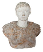 Ancient statue of the roman emperor Augustus — Stock Photo