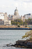 View of the city of Havana from across the bay — Foto Stock