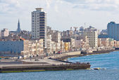 The skyline of Havana seen from the ocean — Stockfoto