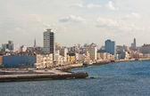 O skyline de havana visto do oceano — Foto Stock